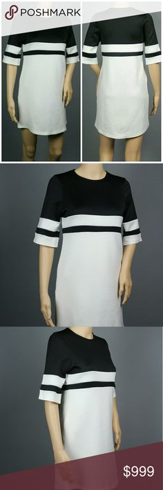 "MISSGUIDED Shift Dress Missguided black Striped Shift Dress.  This is sized UK Small to Medium and US SIZE 10. Mannequin is a size 2 to 4 for size reference.   Approx Measurements:  Underarm to underarm: 17"" Length shoulder to hem : 32""  95% poly / 5% spandex.  Handwash only.  In excellent pre-owned condition.  No stains, piling, holes, tears, etc.   SAVE WITH BUNDLES! REASONABLE OFFERS WELCOME  SUGGESTED USER/ 5-STAR SELLER   Thank you for visiting! Happy Poshing! 037 Missguided Dresses"