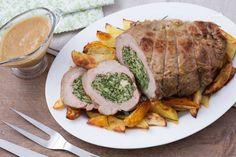 Tasca di vitello ripiena Ricotta, Canned Meat, Chicken Enchiladas, Fett, Pork, Food And Drink, Dinner, Cooking, Plating