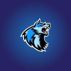 Game Logo Design, Badge Design, Logo Design Template, Logo Esport, Art Logo, Logo Animal, Logo Online, Gaming Logo, Wolf