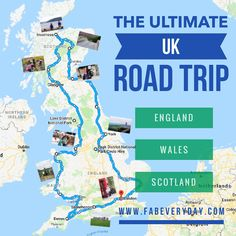 Ultimate U. road trip itinerary, including recommendations on where to stay, the top cities to see Road Trip Uk, Road Trip With Kids, Family Road Trips, Road Trip Hacks, Family Travel, Uk Trip, Trip Tour, Scotland Road Trip, Scotland Travel