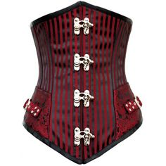 Serre-taille cabaret rouge et noir