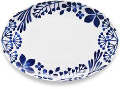 Sandefjord Porcelain Oval Platter - Serveware - Ideas of Serveware - Noritake Sandefjord Porcelain Oval Platter Serveware Dining & Entertaining Macy's Ceramic Plates, Porcelain Ceramics, China Porcelain, Painted Ceramics, Painted Porcelain, Porcelain Tiles, Hand Painted, Pottery Painting, Ceramic Painting