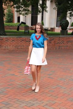 Red, white, and blue seems to be the main color palette of my wardrobe, so I think I will have no problem figuring out what to wear this Fo...