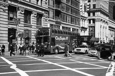 New York Street Photography. Sightseers and native New Yorkers.