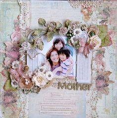 *Once Upon A...Sketch*Mother - Scrapbook.com Prima - Romantique Collection
