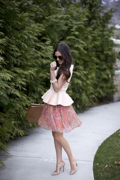 Peachy Pink + Peplum. So ready for Spring and sunny weather!!