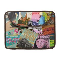 Vintage Travel Posters MacBook Pro Sleeve