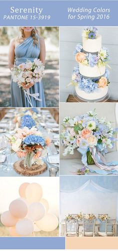 light blue and peach spring wedding colors 2016 trends