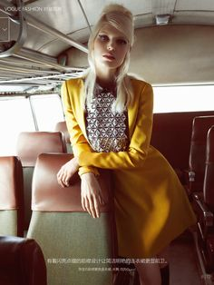 visual optimism; fashion editorials, shows, campaigns & more!: groupie tour: ola rudnicka by camilla akrans for vogue china august 2014