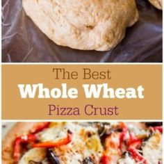 Homemade Whole Wheat Pizza Crust Best-Ever Whole Wheat Pizza Dough Wheat Pizza Crust Recipe, Homemade Pizza Crust Recipe, Wheat Biscuits, Whole Wheat Pizza, Cooking Recipes, Healthy Recipes, Bread Recipes, Pizza Recipes, Sallys Baking Addiction