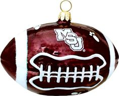 $24.99-$24.99 NCAA Mississippi State Bulldogs Football Blown Glass Ornament