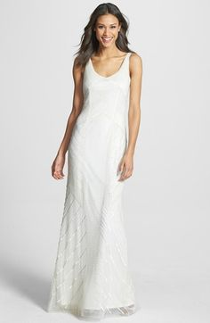 Adrianna Papell Long Beaded Gown available at #Nordstrom
