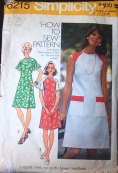 Simplicity 6215 Pattern for Misses' Dress by VictorianWardrobe, $8.00