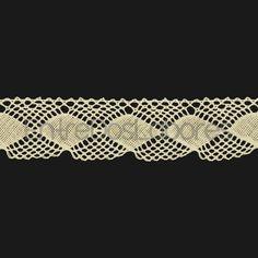 Puntilla de encaje de bolillos de algodón mercerizado de 3 cm. (Disponible en 2 colores)