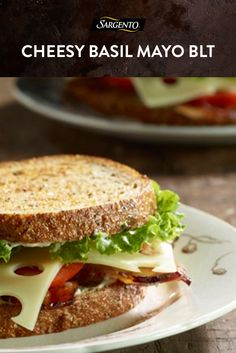 You can't go wrong with a classic, simple BLT loaded with bacon and tomatoes. It gets even better when you add basil mayo and a couple slices of 100% real, natural Swiss cheese. Get all the sandwich secrets in the full recipe.
