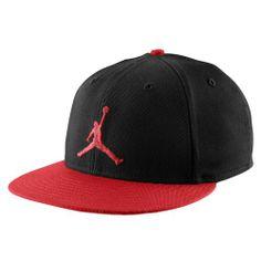 Jordan Jumpman True Snapback Cap - Men's - Basketball - Accessories - Black/Gym Red-Foot Locker