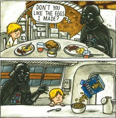 Starwars: Darth Vader and Son Star Wars Meme, Star Wars Comics, Star Wars Day, Lego Star Wars, Darth Vader Y Su Hijo, Darth Vader And Son, Cute Stars, The Force Is Strong, Geek Out