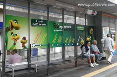 Hiperdino, Marquesinas del Tranvía de Tenerife, ¿te interesa? Contacta con nosotros. #rotulacion #vehiculo #tranvia #publiservic #mupis #marquesina Tenerife, Advertising, Teneriffe