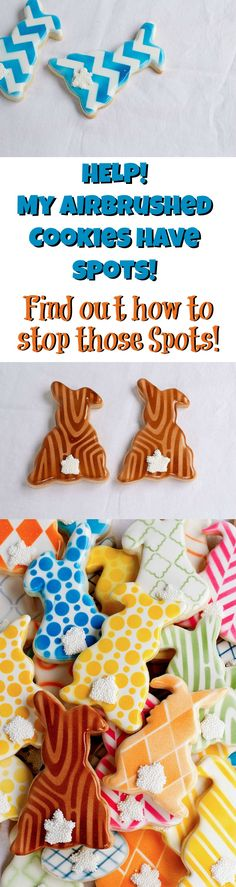 Stop Those Airbrush Gun Spots on Your Decorated Sugar Cookies www.thebearfootbaker.com