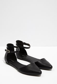 b4516a5c34f98 Pointed Ankle-Strap Flats