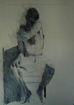 Art - Drawing - j. with hand on soulder - Mark Horst Figure Painting, Figure Drawing, Painting & Drawing, Life Drawing, Drawing Sketches, Art Drawings, Figurative Art, Collages, Portraits