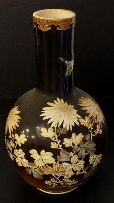 Antique Japanese Porcelain Floral Vase