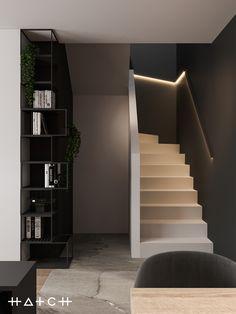HOUSE IN LODZ,PL on Behance Archi Design, Küchen Design, House Design, Home Interior Design, Interior Architecture, Living Room Designs, Living Spaces, Design Moderne, Cuisines Design