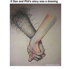 and dans fingertips slowly change because phil brougjt a lot of happiness into his life