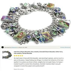 Irish Fairy Charm Bracelet, Fairy Jewelry, Emerald Charm Bracelet, Celtic Fairy, Irish Jewelry, Fairies Bracelet - Blackberry Designs Jewelry