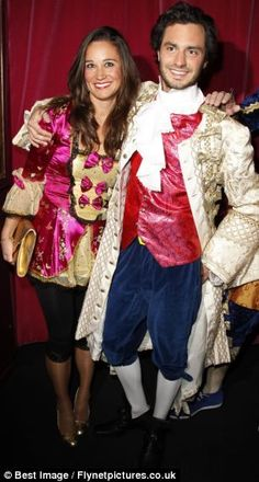 Pippa Middleton with a man believed to be Arthur de Soultrait's brother Marcy at a party in Paris, France.