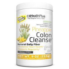 Health Plus Colon Cleanse, Pineapple Flavor, 36 Servings, Multicolor Colon Cleanse Powder, Colon Cleanse Detox, Psyllium Husk Fiber, Health Plus, Hcg Diet, Diet Pills, Stevia, The Cure, Herbs