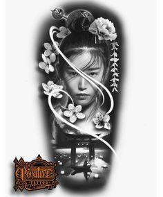 Japanese Tattoo Art, Japanese Tattoo Designs, Japanese Sleeve Tattoos, Lion Head Tattoos, Leg Tattoos, Tattoos For Guys, Tattoo Sketches, Tattoo Drawings, Half Sleeve Tattoo Stencils