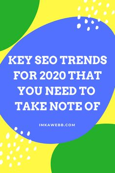 If you're interested in upping your SEO game this these are the 5 key SEO trends you have to take note of this year. Bookmark this post, or pin it for future reference. Seo Tips, Growing Your Business, Online Business, Digital Marketing, Notes, Key, Trends, Teaching, Future