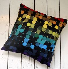 geometric cushion design by Simon C Page, available at clickforart