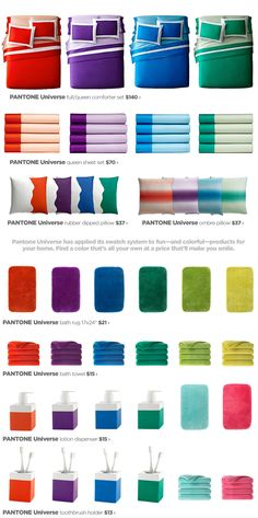 Pantone Universe - Pantone's Exclusive Color-Coordinated Bedding & Bath Designs - jcpenney