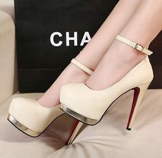774bed5a6a2cae Fashion Closed Toe Mary Jane Ankle Strap High Heel Platform Pumps Stilettos  Shoe