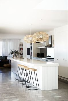 Jaw-Dropping Unique Ideas: Minimalist Bedroom Loft Bed minimalist home decoration coffee tables.Modern Minimalist Kitchen Decoration minimalist home style shelves.Minimalist Home Style Shelves. Home Decor Kitchen, Kitchen Living, New Kitchen, Home Kitchens, Modern Kitchens, Kitchen White, Coastal Kitchens, Kitchen Ideas, Design Kitchen