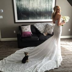 Fashion Rules for Wedding Dresses that Should not be Broken Don't forget the pup // bride Heather Bilyeu #wedding #dress #photography
