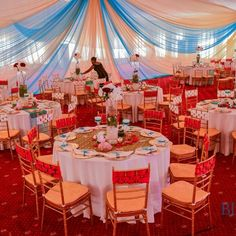 Nigerian Wedding: Gorgeous Chair Covers By Blue Velvet Marquee | Nigerian Wedding | Nigerian Wedding