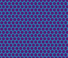 Large Aileron Dots in Purple on Blue fabric by thomas-knauer on Spoonflower - custom fabric