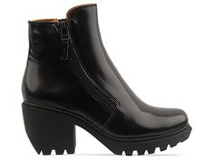 Opening Ceremony Grunge Double Zip Bootie in Black Leather at Solestruck.com