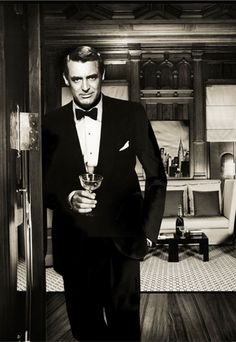 "Cary Grant. ""Why yes, Cary, I would like to have a cocktail with you. How kind of you to offer."""