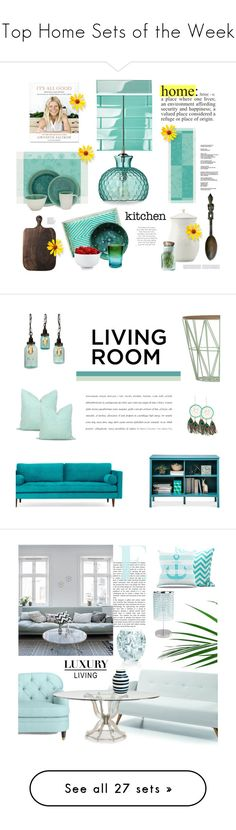 """""""Top Home Sets of the Week"""" by polyvore ❤ liked on Polyvore featuring interior, interiors, interior design, home, home decor, interior decorating, Jamie Young, Aventura, Zimmermann and The Cellar"""