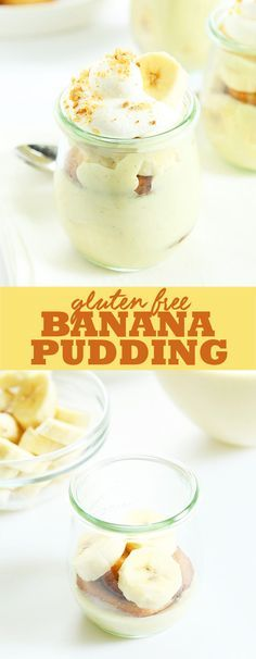 This gluten free banana pudding takes a classic Southern dessert to another level with banana puree cooked right into the smooth, creamy pudding. http://glutenfreeonashoestring.com/gluten-free-banana-pudding/