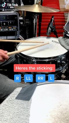 This is a drum lesson centered around the 6 stroke roll by Los Angeles session drummer Nick Adams using a PDP snare drum