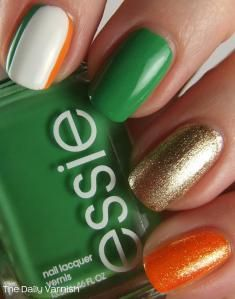 St Patricks Day Manicure 2013