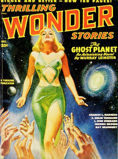 Earle K. Bergey: Thrilling Wonder Stories Covers 1948: February; April; June; August; October; December