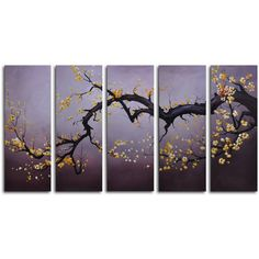 My Art Outlet Hand-painted 'Japanese Branch Charcoal (€115) ❤ liked on Polyvore featuring home, home decor, wall art, furniture, grey, tree branch wall art, branch wall art, branch home decor, gray wall art and grey home decor