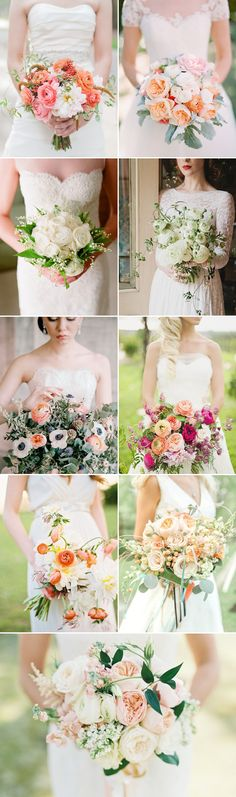 Wedding Flowers - Ranunculus Wedding bridal Bouquets