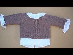Tutorial para hacer Jersey de Bebé, con video e instrucciones, en algodón o lana Crochet Baby Shoes, Crochet Bebe, Bebe Baby, Other Outfits, Baby Cardigan, Crochet For Beginners, Baby Knitting Patterns, Baby Booties, Baby Kids